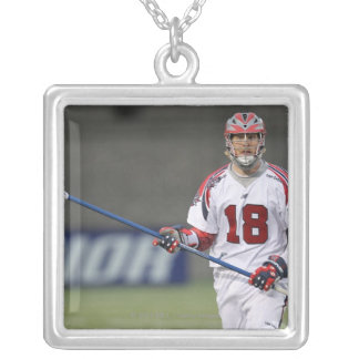 BOSTON, MA - JUNE 11:  Jack Reid #18 Boston 2 Silver Plated Necklace
