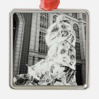 Boston, mA LOS E.E.U.U., corredor en el maratón de Adorno Navideño Cuadrado De Metal