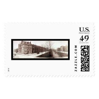Boston, MA Mansion Photo 1903 Postage Stamp