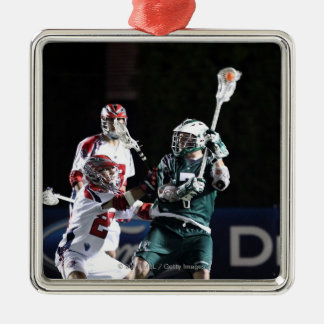 BOSTON, MA - MAY 14:  Keith Cromwell #7 Square Metal Christmas Ornament