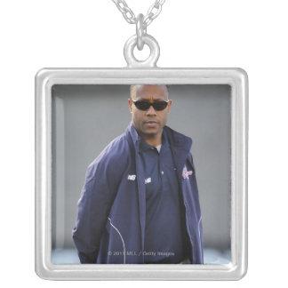 BOSTON, MA - MAY 21:  Coach Bill Daye Silver Plated Necklace