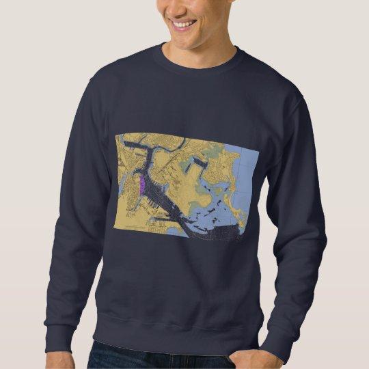 Boston MA Nautical Harbor Chart Shirt