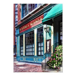Boston Ma - North End Restaurant Card