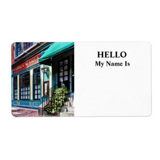 Boston Ma - North End Restaurant Label