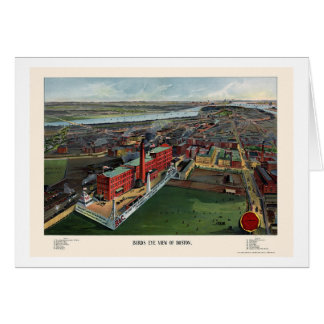 Boston, MA Panoramic Map - 1902 Greeting Card