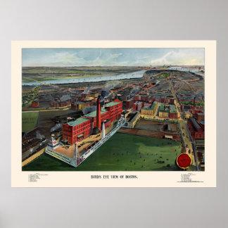 Boston, MA Panoramic Map - 1902 Poster