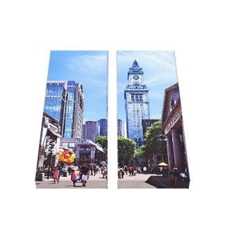 Boston MA - Quincy Market Canvas Print