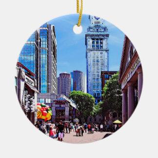 Boston MA - Quincy Market Ceramic Ornament