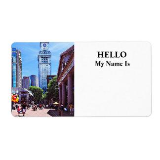 Boston MA - Quincy Market Label