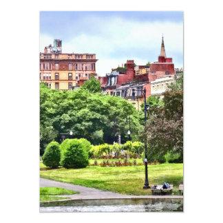 Boston MA - Relaxing In Boston Public Garden Card