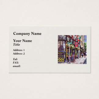 Boston MA - Restaurants on Creek Square Business Card