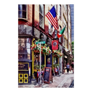Boston MA - Restaurants on Creek Square Poster