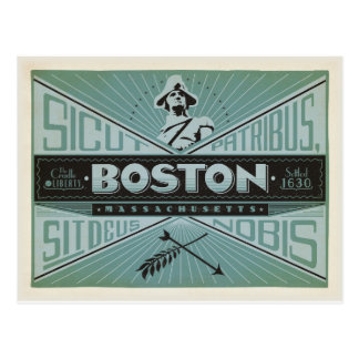 Boston, MA - Settled 1630 Postcard