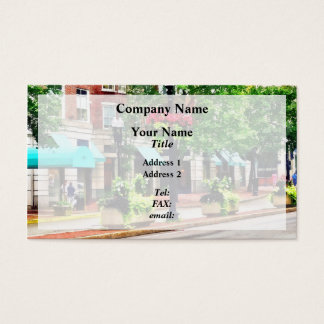 Boston MA - Shops Along Boyleston Street Business Card