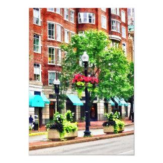 Boston MA - Shops Along Boyleston Street Card