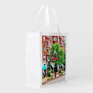 Boston MA - Shops Along Boyleston Street Grocery Bag