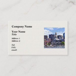 Boston skyline business cards templates zazzle boston ma skyline with custom house tower business card reheart Choice Image