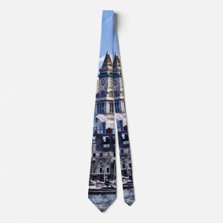 Boston MA - Skyline With Custom House Tower Tie