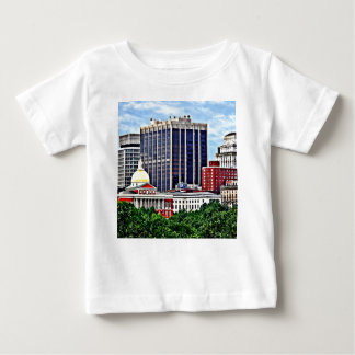 Boston MA - Skyline with Massachusetts State House Baby T-Shirt