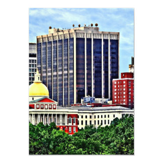 Boston MA - Skyline with Massachusetts State House Card
