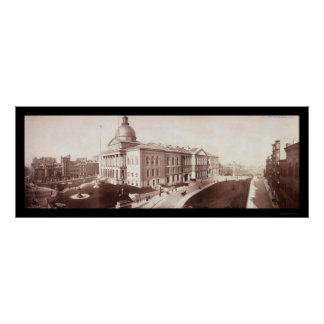 Boston, MA State House Photo 1903 Poster