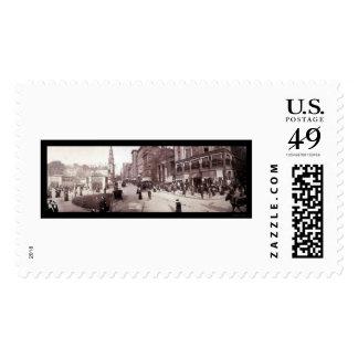 Boston MA Street Scene Photo 1903 Postage