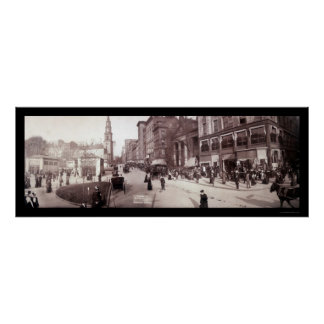 Boston MA Street Scene Photo 1903 Poster