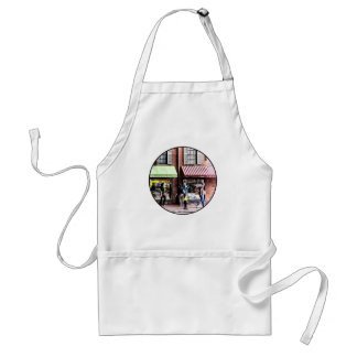 Boston MA - Street With Candy Store and Bakery Adult Apron