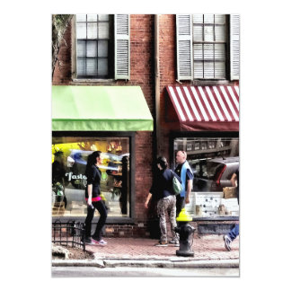Boston Ma - Street With Candy Store And Bakery Card