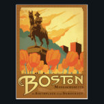 "Boston, MA - The Birthplace of our Democracy Postcard<br><div class=""desc"">Anderson Design Group is an award-winning illustration and design firm in Nashville,  Tennessee. Founder Joel Anderson directs a team of talented artists to create original poster art that looks like classic vintage advertising prints from the 1920s to the 1960s.</div>"