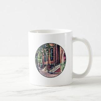 Boston MA - Walking the Dog on Mount Vernon Street Coffee Mug