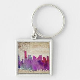 Boston, MA | Watercolor City Skyline Keychain