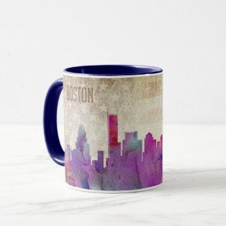 Boston, MA | Watercolor City Skyline Mug