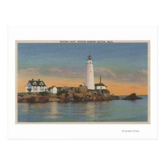 Boston, MABoston Lighthouse at Boston Harbor 2 Postcard