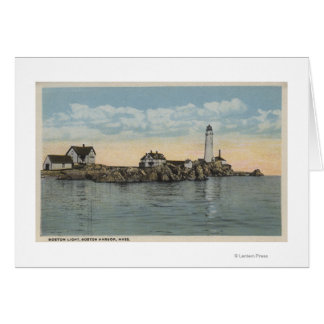 Boston, MABoston Lighthouse at Boston Harbor Card