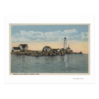Boston, MABoston Lighthouse at Boston Harbor Postcard