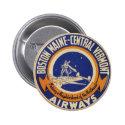 Boston Maine-Central Vermont Airways Logo 2 Inch Round Button