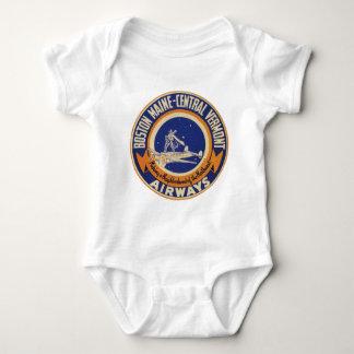 Boston Maine-Central Vermont Airways Logo Baby Bodysuit
