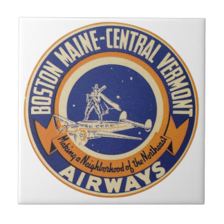 Boston Maine-Central Vermont Airways Logo Ceramic Tile