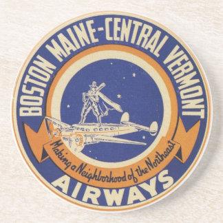 Boston Maine-Central Vermont Airways Logo Coaster