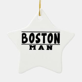Boston Man Designs Christmas Ornament