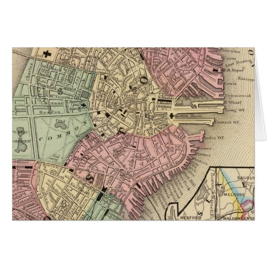 Boston Map by Mitchell Card