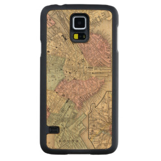 Boston Map by Mitchell Carved Maple Galaxy S5 Slim Case