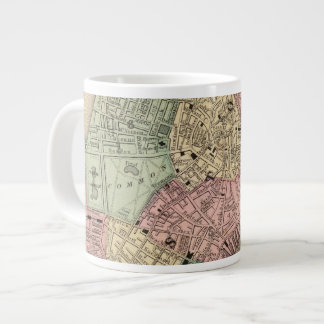 Boston Map by Mitchell Giant Coffee Mug