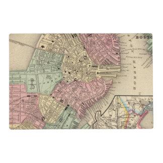 Boston Map by Mitchell Laminated Place Mat