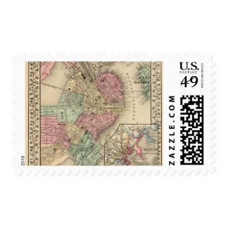 Boston Map by Mitchell Postage