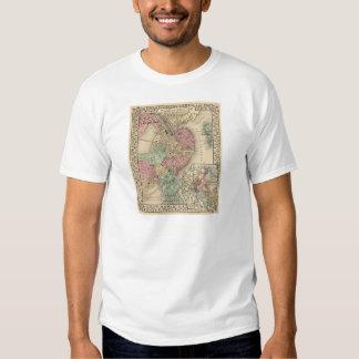 Boston Map by Mitchell T-shirt