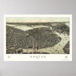 Boston, mapa panorámico del mA - 1899 Posters