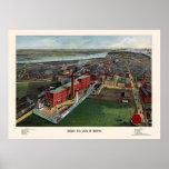 Boston, mapa panorámico del mA - 1902 Impresiones