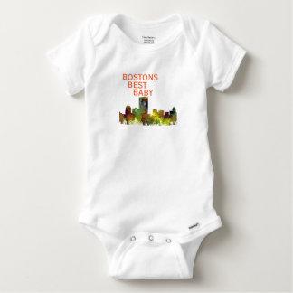 Boston Mas .Skyline Safari Buff Baby Onesie